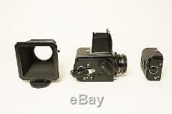 500C/M Hasselblad, 50mm, 80mm, 150mm, two film backs & a Zero Hallilburton case