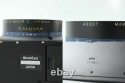Almost UNUSED Mamiya RZ67 Pro II + Sekor Z 110mm f/2.8 W 120 Film Back JAPAN