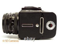 Black Hasselblad 501c Camera & Planar 80mm 2.8 T Lens, A12 Back Excellent