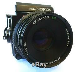 Bronica ETRSi 6x4.5 Camera + 75mm F2.8 E II lens + 120 Back + Waistfinder + Sky