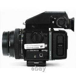 Bronica ETRSi Camera, 75mm F2.8 EII 120 RFH Back, AE-II Prism, Speed Grip E