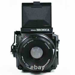 Bronica ETRSi Camera, 75mm f/2.8 EII 120 RFH Back + Waist Level Viewfinder