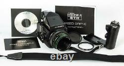 Bronica ETRsi 75mm f/2.8 E II Lens 120 Back Speed Grip Prism Finder VERY NICE