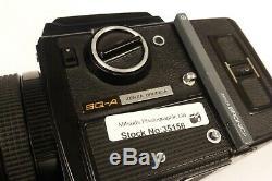 Bronica SQ-A 6x6 Medium Format Camera + 80mm f/2.8 S lens + 120 RFH Back + WLF