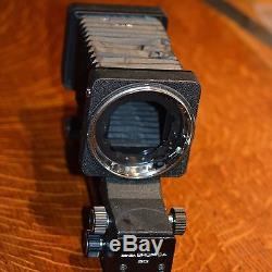 Bronica SQ-A Medium Format SLR + 80mm lens +V + H prism +2x backs + Bellows