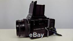 Bronica SQ-Ai Medium Format 6x6 Camera+2 120mm Film Backs=Hood+Strap EXCELLENT