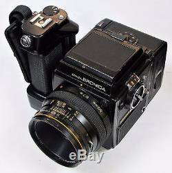 Bronica SQ-Am 6x6 Medium Format Camera + 80mm f/2.8 S Lens + 120 Film Back + WLF