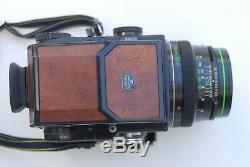 Bronica Special 20th Aniversary Edition ETRS AE II 75mm 120 Back Brown Leather