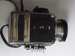 Bronica Zenza S 6x6 Medium Format Camera, Chimney magnifier, 75mm Lens, Backs