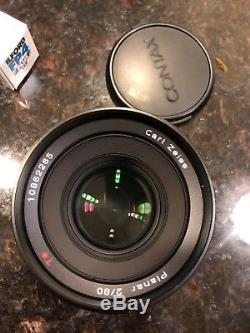 Contax 645 AF + Planar 80mm F2 and 120 film back. EXCELLENT Cond