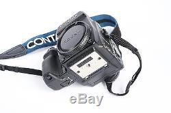 Contax 645 Film camera body /w MF-1 MFB-1 MFB-1A film back viewfinder