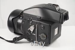 Contax 645 Medium Format Camera, 80mm Planar T Lens, Extra Film Back and Flash
