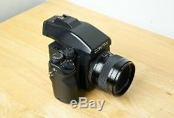 Contax 645 camera with Zeiss Planar 80mm f/2, prism finder & film back EXC+