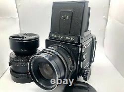 EXC+4MAMIYA RB67 Pro S + NB 90mm C 180mm 2Lens + 120 Film Back from JAPAN