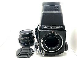 EXC+5 MAMIYA RB67 Pro Body + SEKOR 127mm F3.8 Lens + 120 Film Back From JAPAN