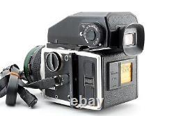 EXC+++++ Bronica ETR EII 75mm F/2.8 Lens AE-II finder 120 Film Back Japan