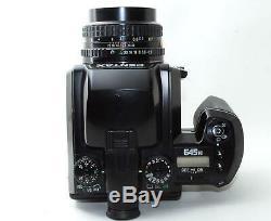 EXC Pentax 645 N Medium Format camera body with A 75mm F/2.8 Lens, 120 film back