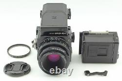 Ex+5 Zenza Bronica ETR PE 75mm f2.8 Lens 120 film Back AE-II Finder from JAPAN