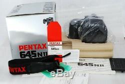Excellent++ BOX Pentax 645NII Medium Format SLR Film with 120 film back #2645