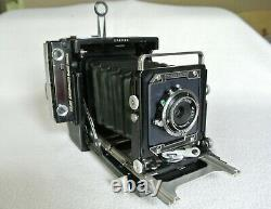 Graflex Century Graphic Camera, 3 Lenses, Roll Back & Accessories