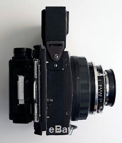 Graflex XL with 80mm f2.8 Zeiss Planar + Graflock + RH8 6x9cm back + spare body