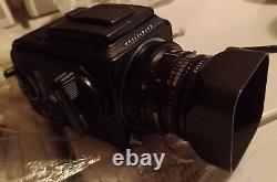 HASSELBLAD 500 CM CAMERA + 80mm Lens + A12 BACK MEDIUM FORMAT FILM Planar Zeiss