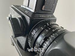 HASSELBLAD 501CM FILM 80MM 2.8 CB LENS 2x A12 BACK
