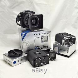 HASSELBLAD 903 SWC Medium Format Film Camera BLACK, 2 A12 backs. EXCELLENT