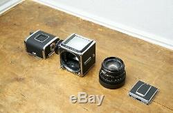 Hasselblad 500CM 500C/M chrome, Zeiss Planar 80mm f/2.8 T & matching A12 back