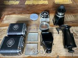 Hasselblad 500CM + 80mm + 150mm + 40mm + 2 Film Backs + Bag + Tons Of Extras
