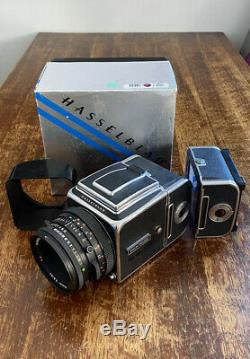 Hasselblad 500CM C/M with Zeiss Planar T CF 80mm f/2.8 + A12 back + Extra Back