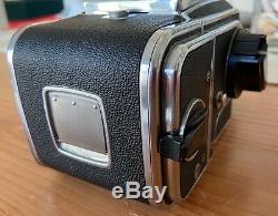 Hasselblad 500CM Medium Format Camera, A12 back, 80mm CF PLANAR lens, 6093 Hood