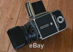 Hasselblad 500CM Medium Format SLR Film Camera w 80mm CF lens & A12 Back kit set