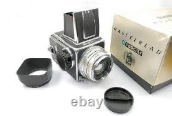 Hasselblad 500CM, Silver 80mm 2.8 Planar lens, WLF, A12 Back, Strap, Boxed VGC