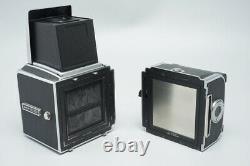 Hasselblad 500C/M 500CM Film Camera, with Waist Level Finder & A12 II Back, Silver