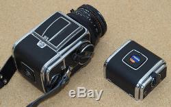 Hasselblad 500C/M CM + Planar 80mm f2.8 T plus two film backs and more. In UK