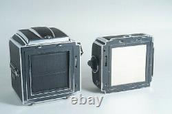 Hasselblad 500C/M Silver Body + A12 Film Back + Waist Level Finder TESTED