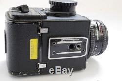 Hasselblad 500C/M black with waist-level finder, A12 back & 80mm f2.8 Planar T