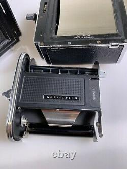 Hasselblad 500C camera with 80mm F2.8 lens A12 Back + waist level finder