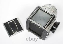 Hasselblad 500C camera with 80mm F2.8 lens A12 Back + waist level finder + shade
