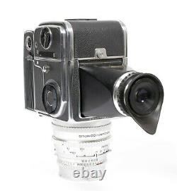 Hasselblad 500ELX camera with 120mm F5.6 lens A24 Back + Finder 9V batt. Adapter