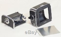 Hasselblad 500EL/M & EL Film Cameras with 150mm, 50mm, Prism, & A12 Back