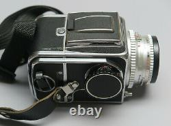 Hasselblad 500 C w 80mm Lens, Waist Level Finder, A12 Film Back and Strap