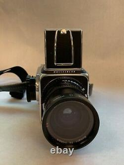 Hasselblad 500 cm with 50 and 80mm lenses including filters, and film backs