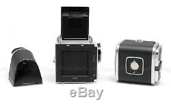 Hasselblad 500c/m Chrome Camera Body Used + 50mm F/4, A12 Back, Hood & Finder