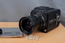 Hasselblad 500cm C/M Black, Carl Zeiss 50mm T Lens, WLF, A12 Back & Manual