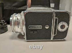Hasselblad 500cm camera with 4 lenses, 2 backs, Domke bag. Used