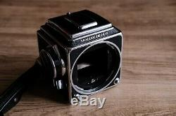 Hasselblad 500cm with 80mm f2.8, 150mm f4, 2 x A12 Film Backs andClose Up Tube