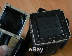 Hasselblad 501CM 80mm F2.8 CB A12 Type IV Back Strap Hood Eyelevel FINDER wCor