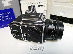 Hasselblad 501CM Camera Outfit with 80mm CFE Lens & A12 Back MINTY